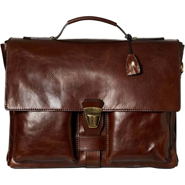 Briefcase 2 compartment Brun 1