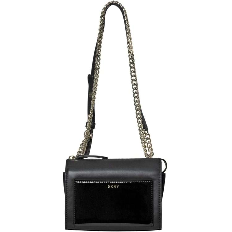 DKNY Crossbody, square m. kæderem Sort 1