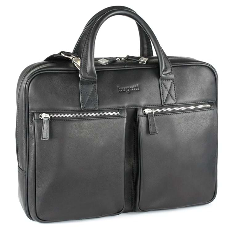 Briefcase-mappe-zip-M-Satoria Sort 1