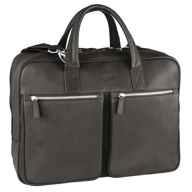 Briefcase-mappe-zip-L-Satoria Sort 1