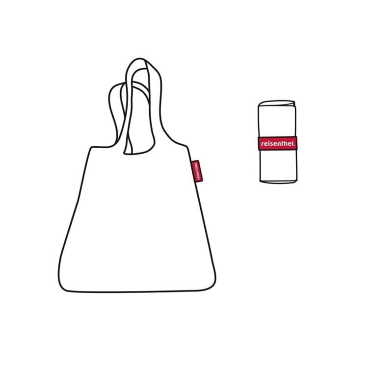 Mini maxi shopper Sort/Hvid 3