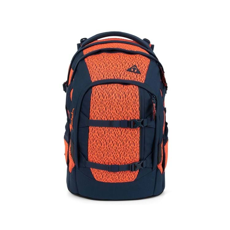 Satch Skoletaske Pack Sort/Orange 1