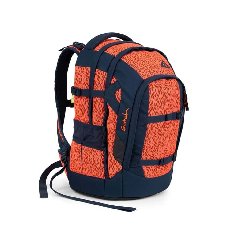 Satch Skoletaske Pack Sort/Orange 2