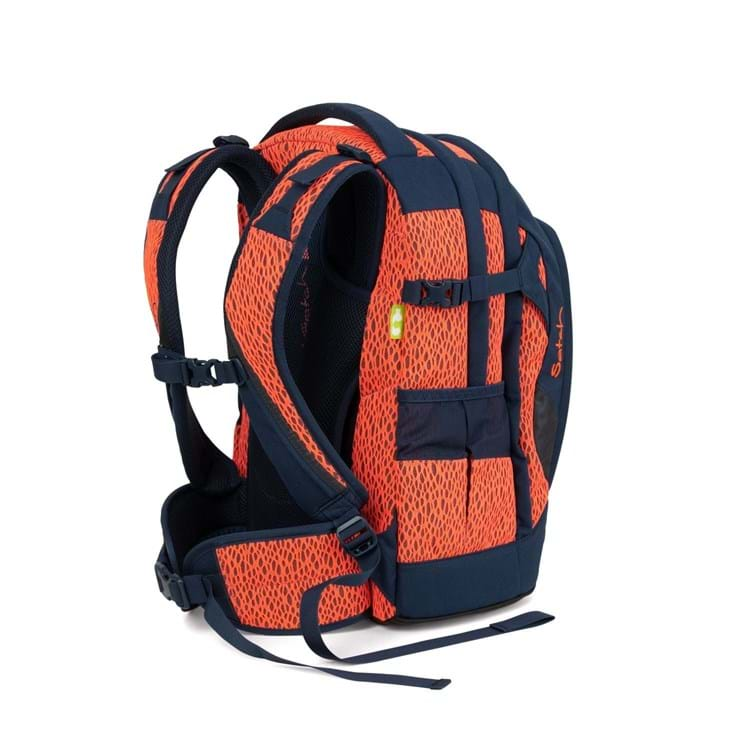 Satch Skoletaske Pack Sort/Orange 4
