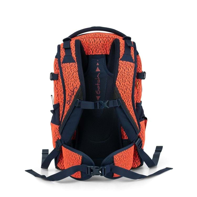 Satch Skoletaske Pack Sort/Orange 5