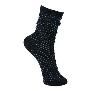 Glimmerstrømpe-Lurex Dot Sock