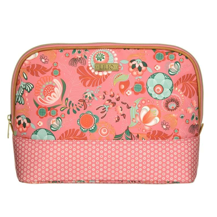 Toilettaske L -Toiletry bag Pink mønstret 1