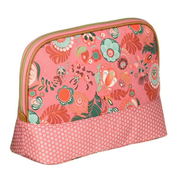 Toilettaske L -Toiletry bag Pink mønstret 2