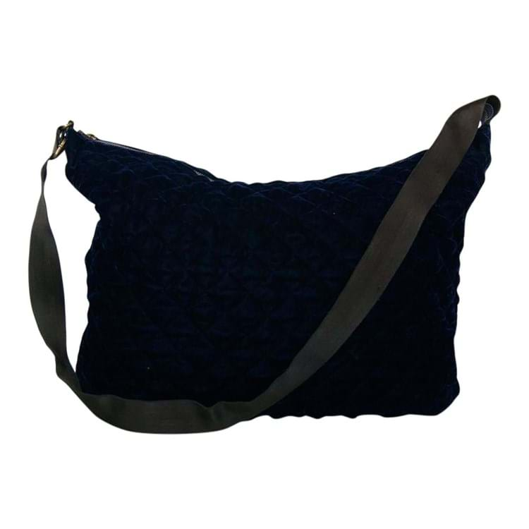 Taske Velvet big quilted bag Navy 1