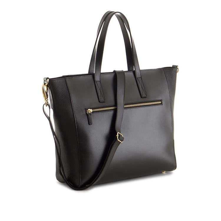 Skuldertaske Laura Satchel Sort 1