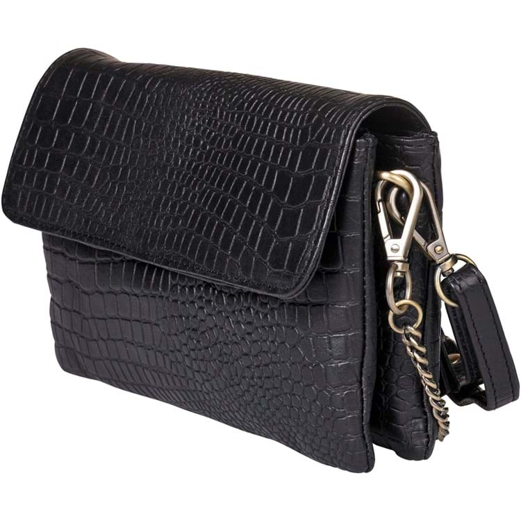 Crossbody croco Sort 1