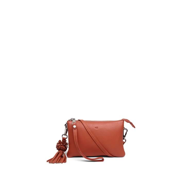 Combi clutch Lizette Ruby Orange 1