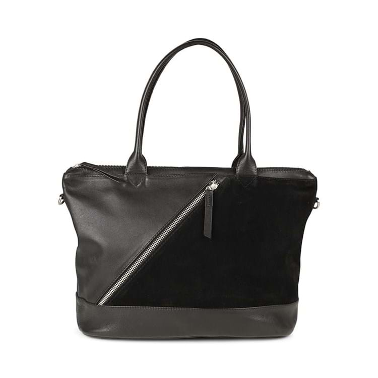 Shopper Zola, Suede Sort 1