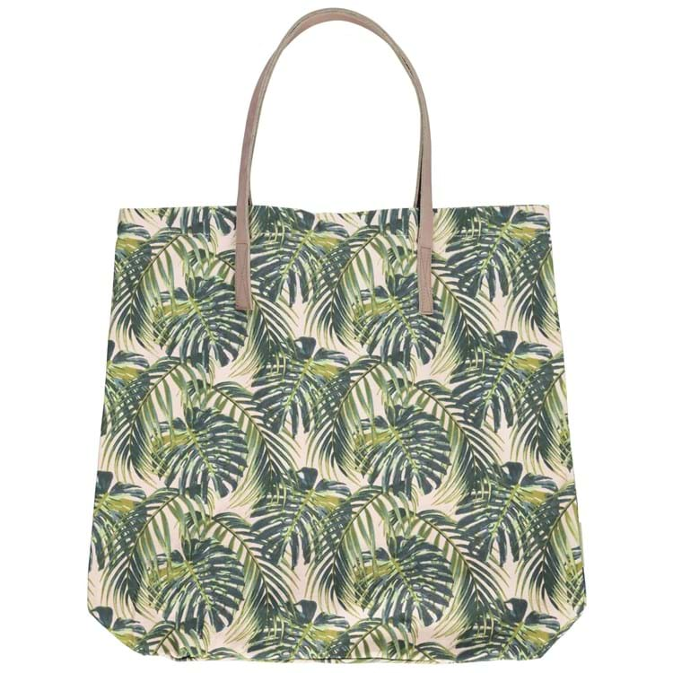 Shopper, Palm Leaves Grøn mønster 1