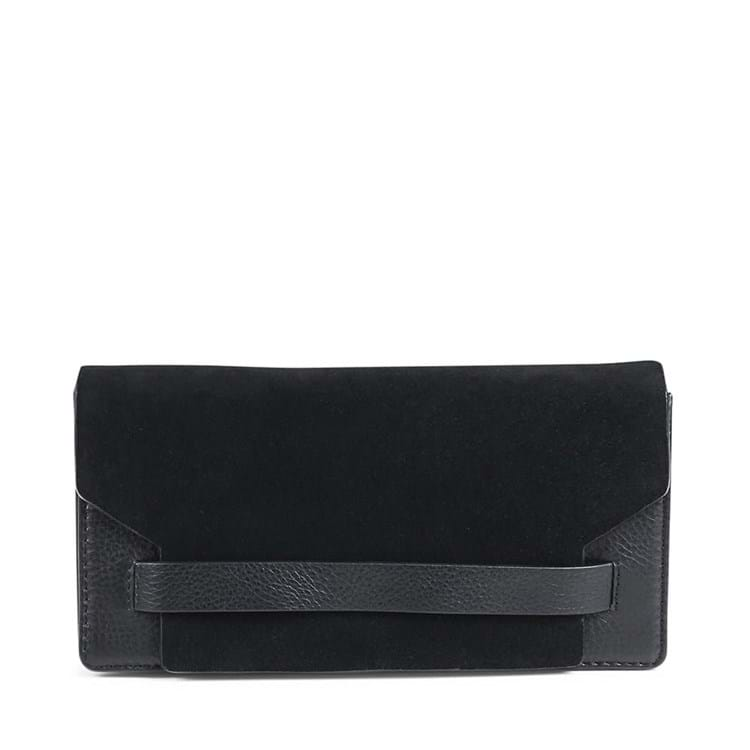 Clutch Elma Suede Sort 1