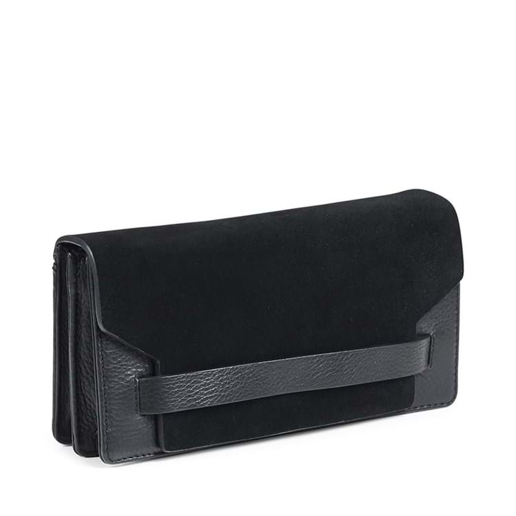 Clutch Elma Suede Sort 2