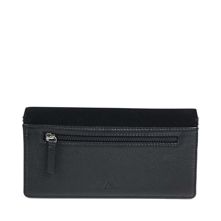 Clutch Elma Suede Sort 4