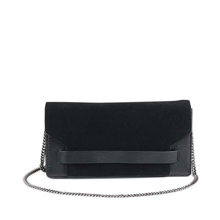 Clutch Elma Suede Sort 5
