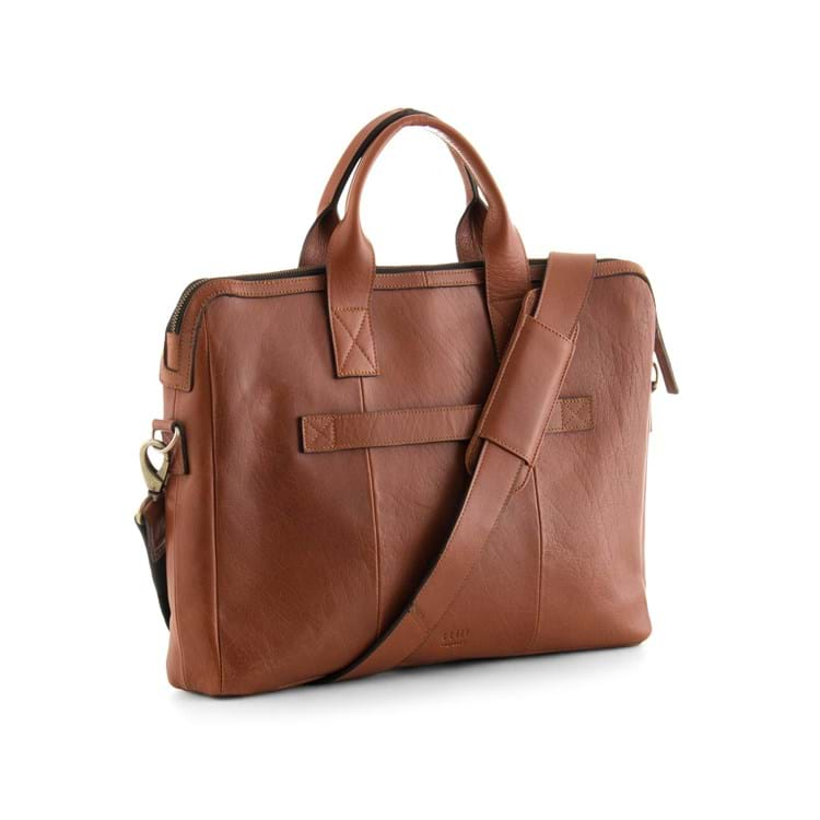 Herremappe Clean pocket Cognac 2