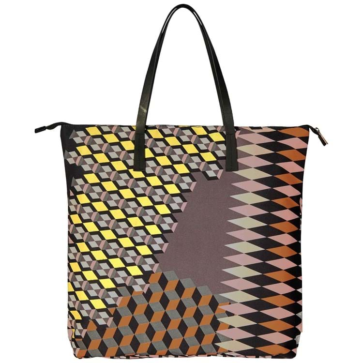 Shopper Zig Zagged Sort/Cognac 1