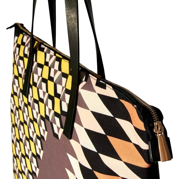 Shopper Zig Zagged Sort/Cognac 2