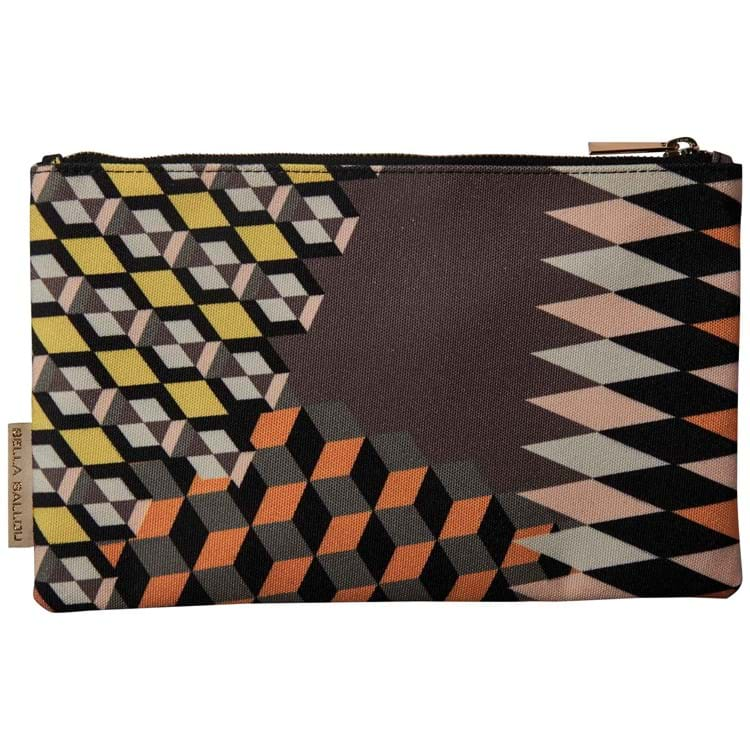 Bella Ballou Clutch Zig Zagged Sort/Cognac 1