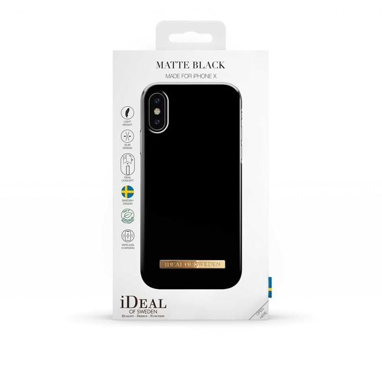 Iphone Cover Matte Black Sort 3