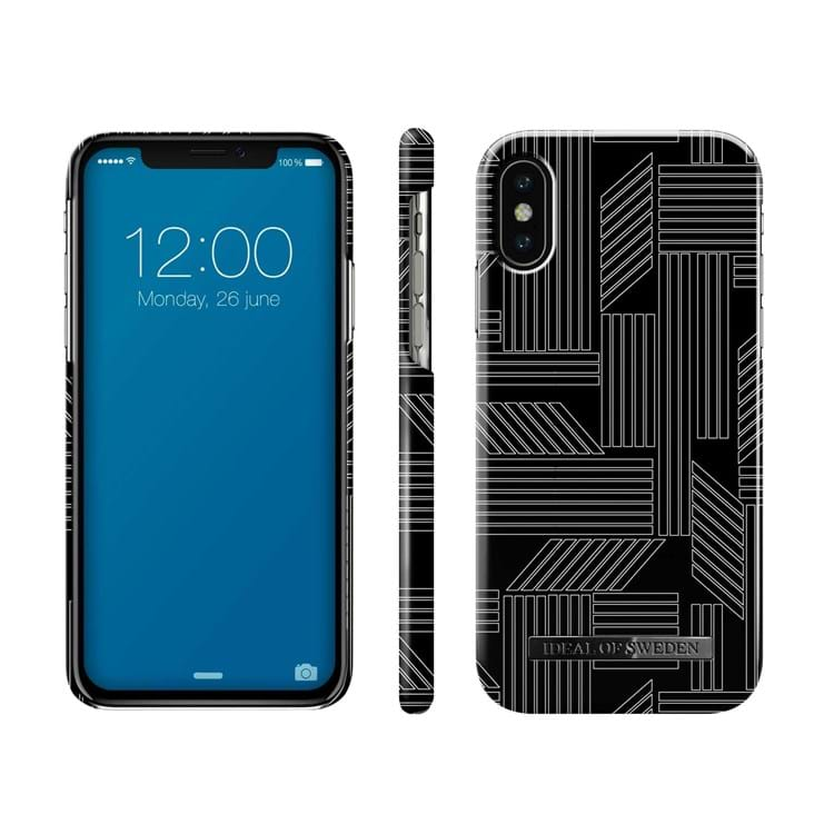 iDeal Of Sweden Iphone Cover Geometric Puzzle Sort/Hvid 2