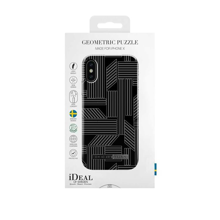iDeal Of Sweden Iphone Cover Geometric Puzzle Sort/Hvid 3