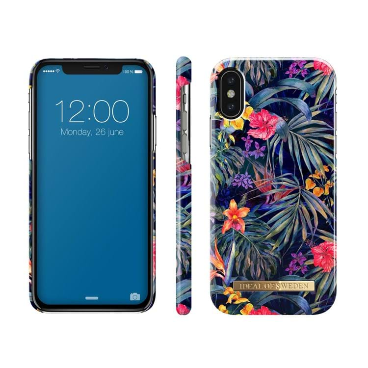 iDeal Of Sweden Iphone Cover Mysterious Jungle Sort/med blomster 2