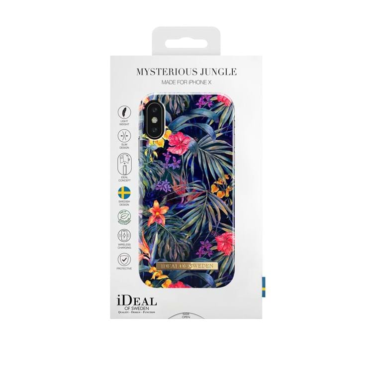 iDeal Of Sweden Iphone Cover Mysterious Jungle Sort/med blomster 3