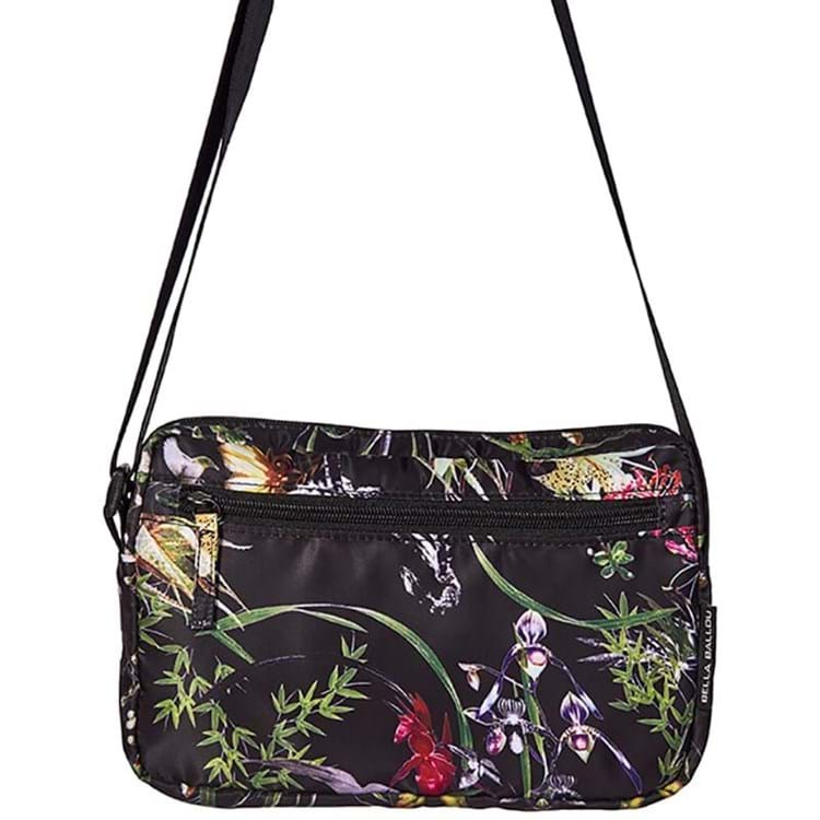 Crossbody Asian Garden Sort/med blomster 1