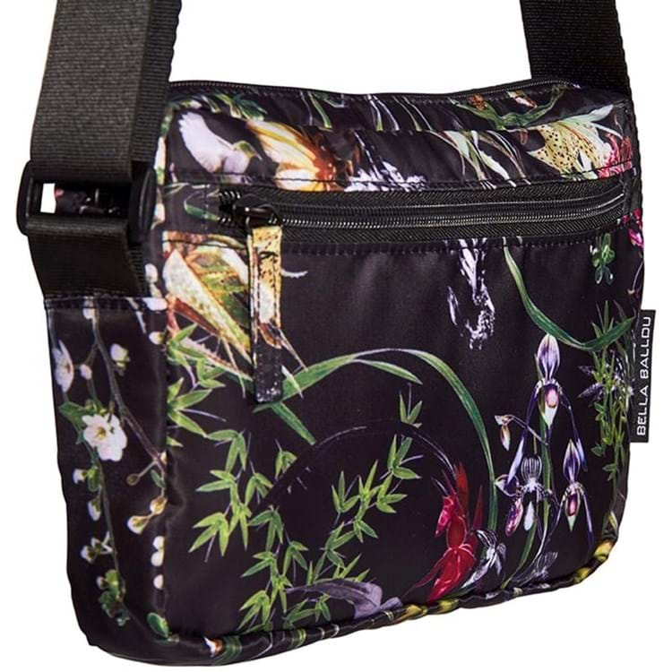 Bella Ballou Crossbody Asian Garden Sort/med blomster 2