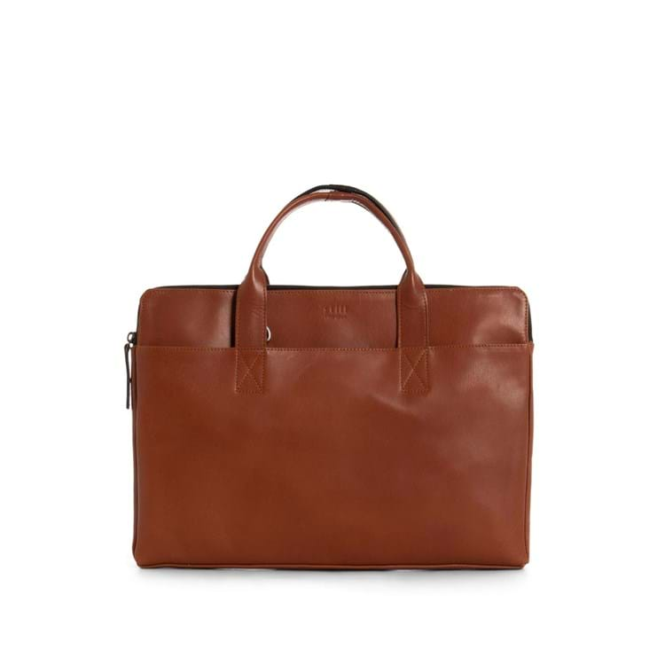 Computertaske Clean Slim Cognac 1
