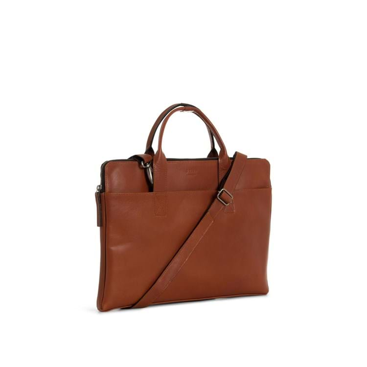 Computertaske Clean Slim Cognac 2