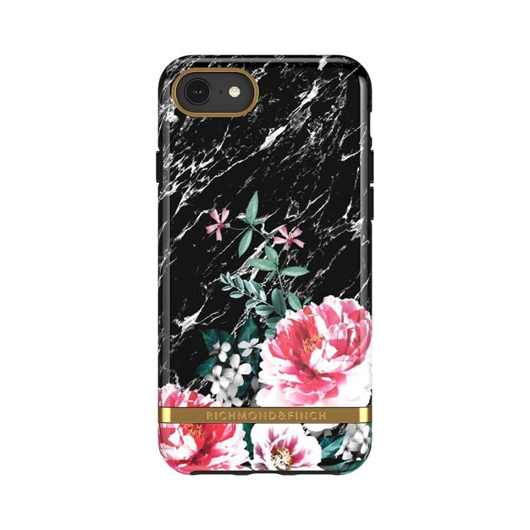 Richmond & Finch  Cover iPhone 6/6s/7/8 Sort/med blomster 1