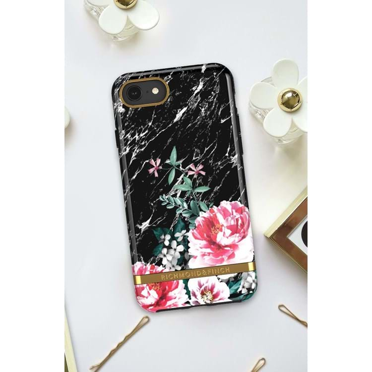 Richmond & Finch  Cover iPhone 6/6s/7/8 Sort/med blomster 4