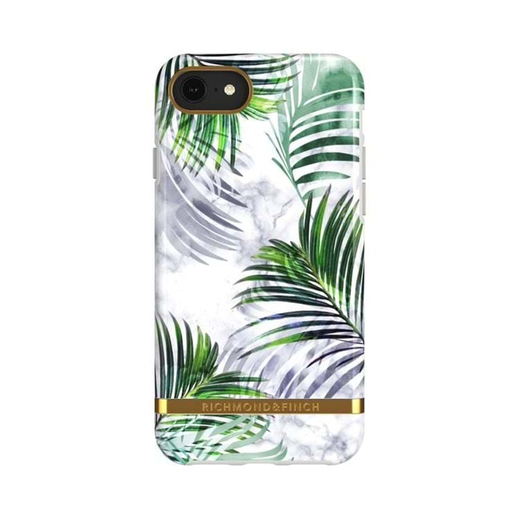 iPhone Cover White Marble Trop Hvid blomst 1