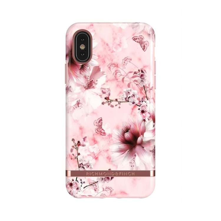 iPhone Cover Pink Marble Flora Pink Blomst 1