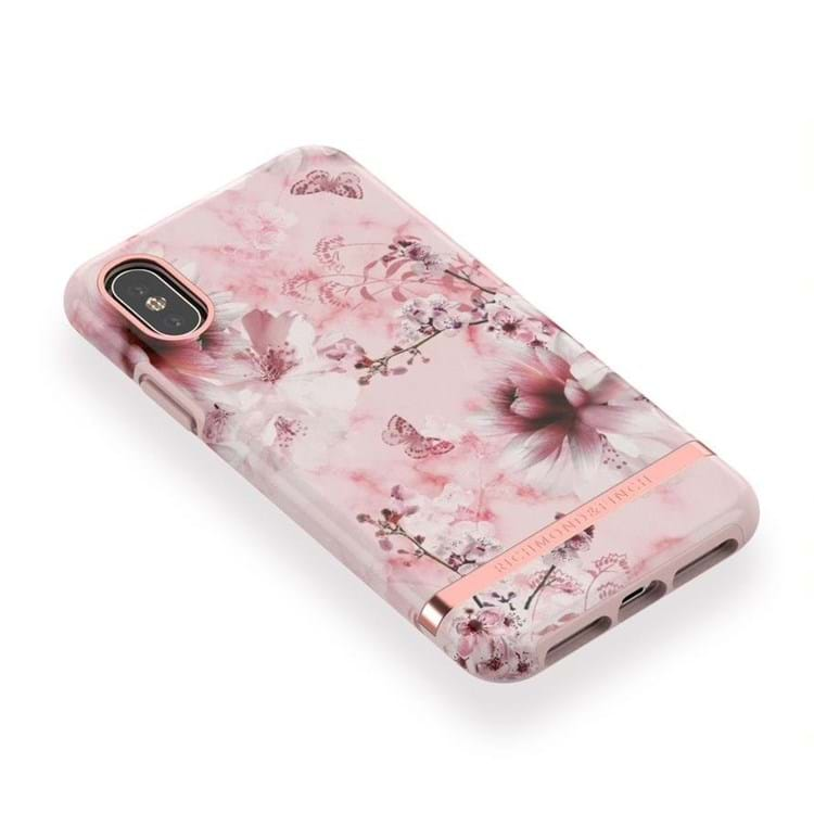 iPhone Cover Pink Marble Flora Pink Blomst 4