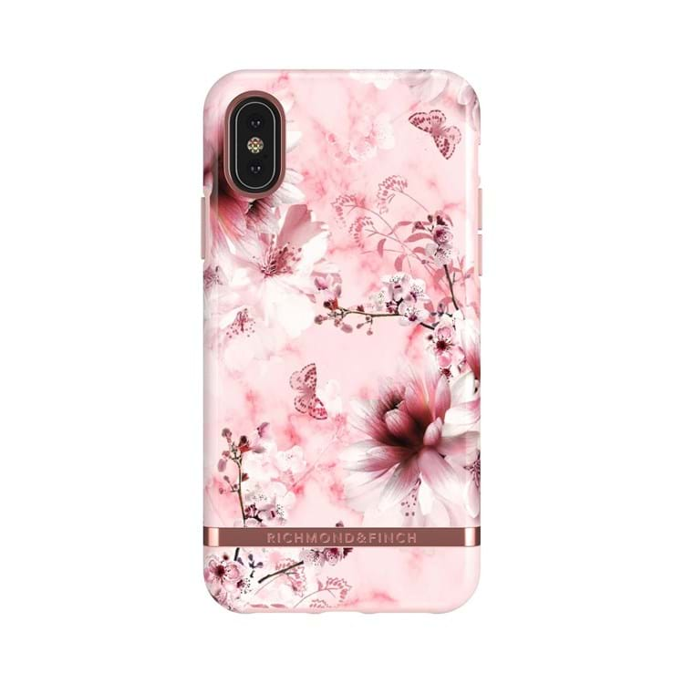 iPhone X/XS Cover Pink Blomst 1