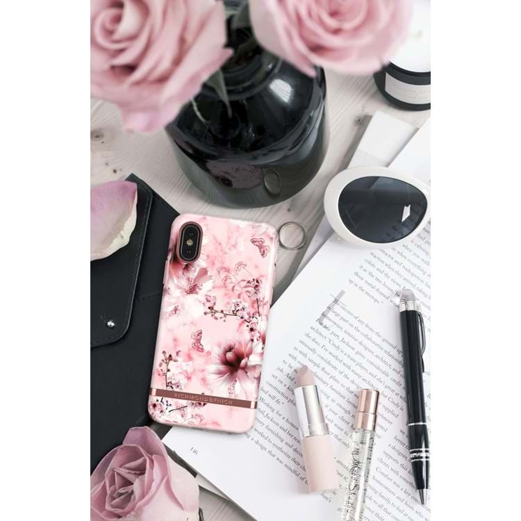 iPhone X/XS Cover Pink Blomst 4
