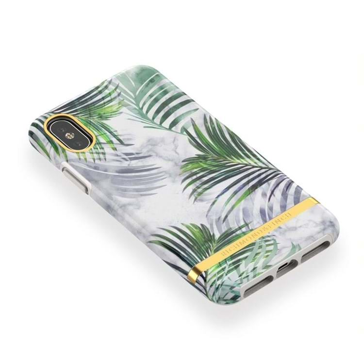 iPhone Cover White Marble Trop Hvid blomst 4