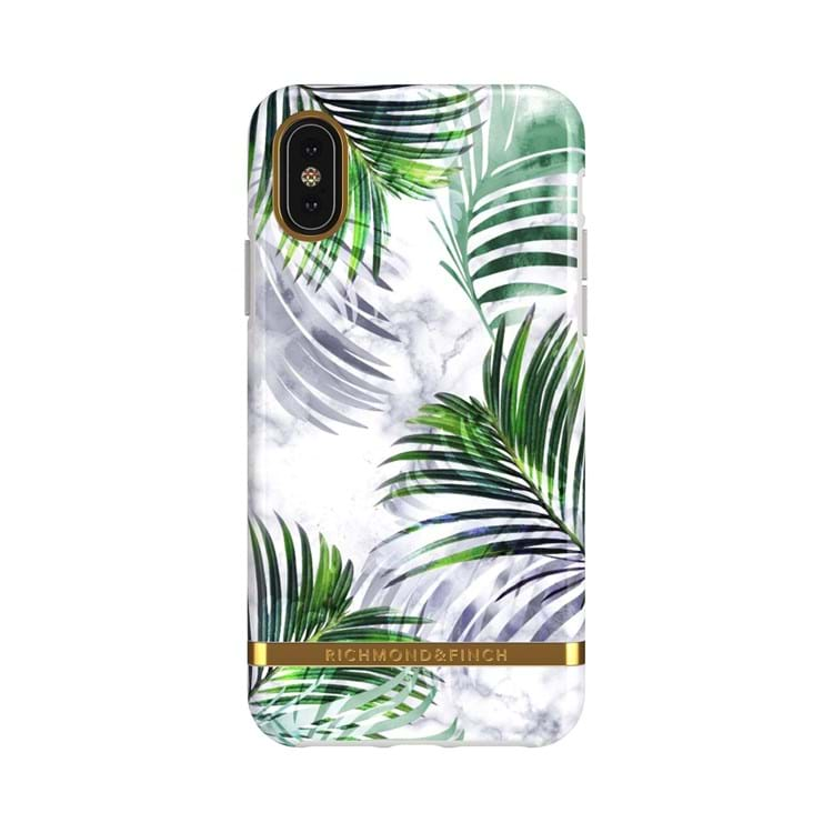 iPhone X/XS Cover Hvid blomst 1