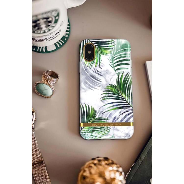 iPhone X/XS Cover Hvid blomst 4