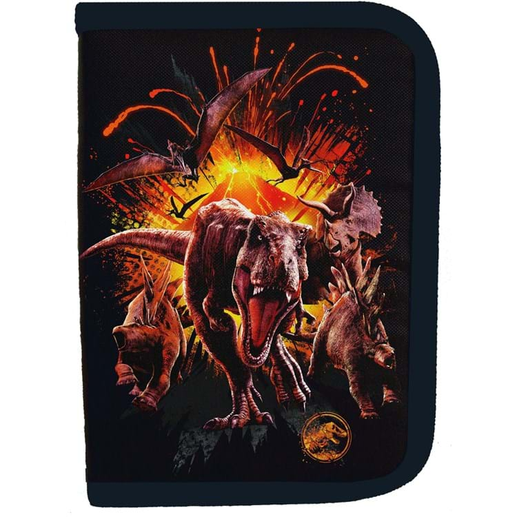 Penalhus Jurassic World Sort/Orange 1