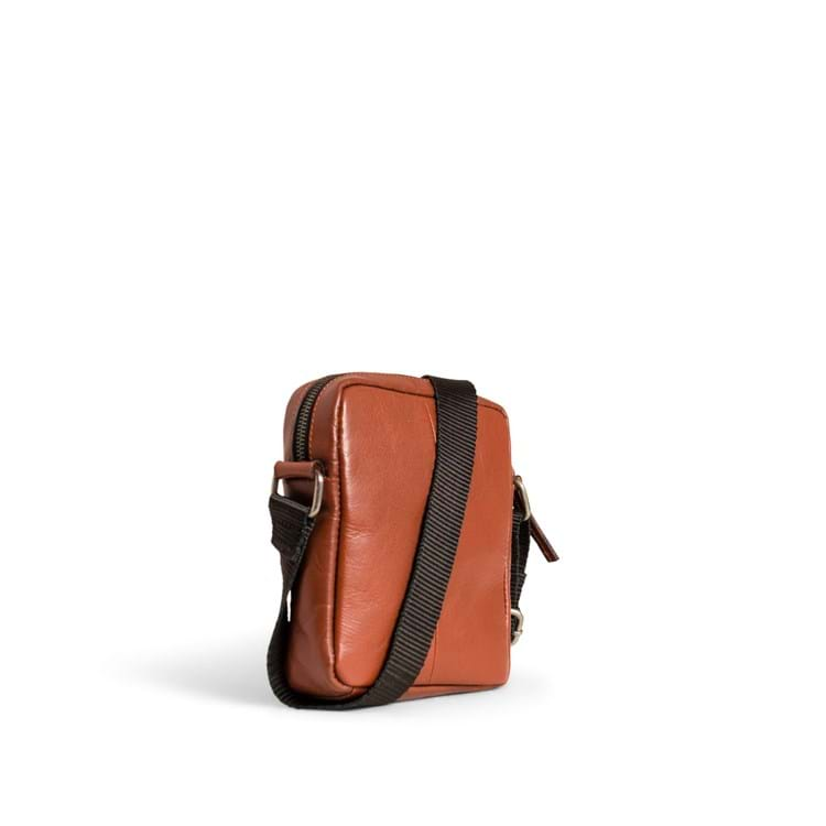 Skuldertaske Clean Small Zip  Cognac 2