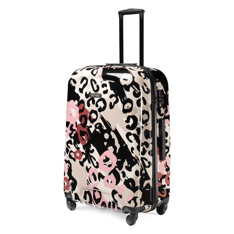 Aries Travel Kuffert Barcelona Pink mønstret 1