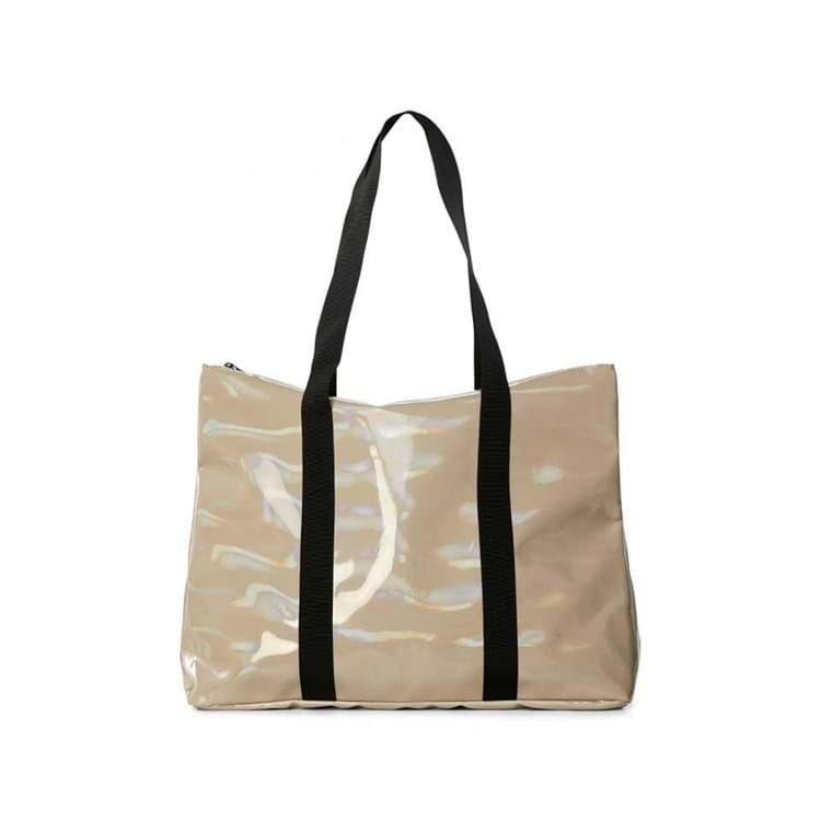 Shopper City Tote Holographic Beige 1
