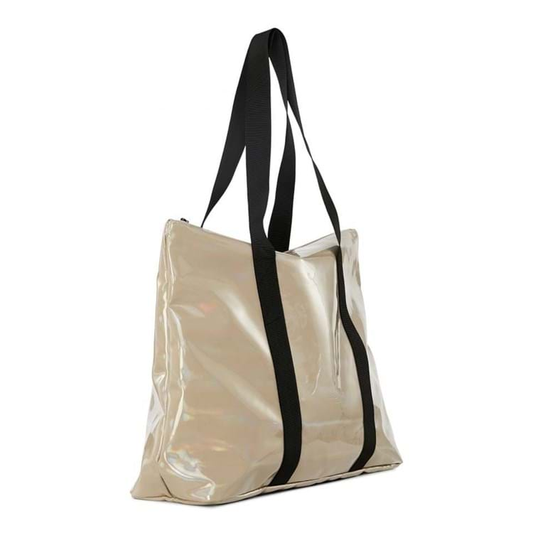 Shopper City Tote Holographic Beige 2